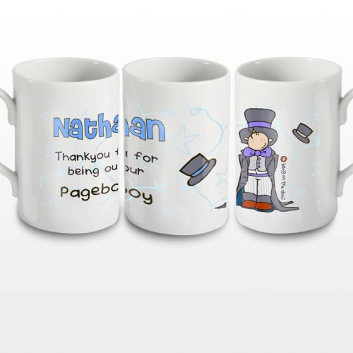 Personalised Bang on the Door Wedding Boy Mug